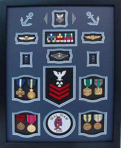 US Navy Seal Team One Shadow Box Display