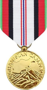 Full Size Medal: Afghanistan Campaign - 24k Gold Plated
