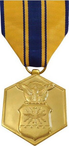 Full Size Medal: Air Force Commendation - 24k Gold Plated