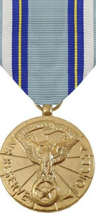 Full Size Medal: Air Reserve Meritorious Service - 24k Gold Plated
