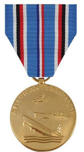 Full Size Medal: American Campaign - 24k Gold Plated