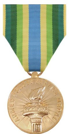 Armed Forces Service Medal- 24k Gold Plated