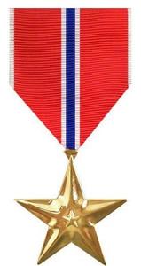 Full Size Medal: Bronze Star - 24k Gold Plated