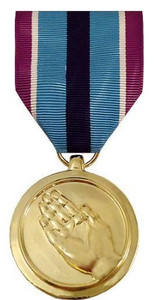 Full Size Medal: Humanitarian Service - 24k Gold Plated