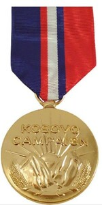 Full Size Medal: Kosovo Campaign Medal - 24k Gold Plated