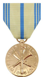 Full Size Medal: Marine Corps Armed Forces Reserve - 24k Gold Plated