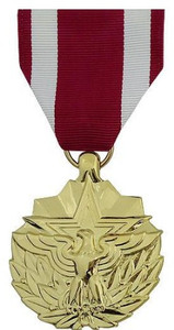 Full Size Medal: Meritorious Service - 24k Gold Plated