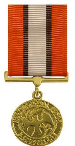 Full Size Medal: Multinational Force and Observer - 24k Gold Plated