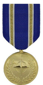 Full Size Medal: NATO Article 5 Active Endeavour Medal - 24k Gold Plated
