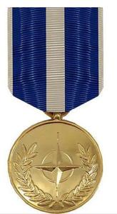 Full Size Medal: NATO Kosovo - 24k Gold Plated