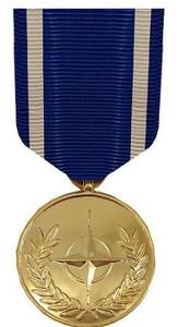Full Size Medal: NATO Medal - 24k Gold Plated