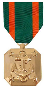 Full Size Medal: Navy Achievement - 24k Gold Plated
