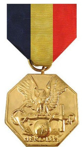 Full Size Medal: Navy and Marine Medal - 24k Gold Plated