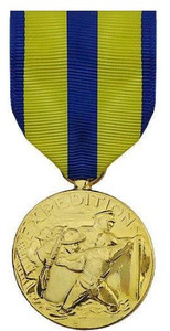 Full Size Medal: Navy Expeditionary - 24k Gold Plated