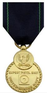 Full Size Medal: Navy Expert Pistol - 24k Gold Plated