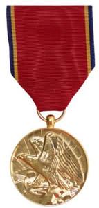Full Size Medal: Navy Reserve - 24k Gold Plated