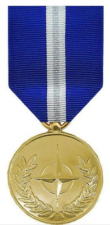 Full Size Medal: Non Article 5 NATO All Balkans Operation - 24k Gold Plated