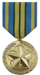 Full Size Medal: Outstanding Volunteer Service - 24k Gold Plated