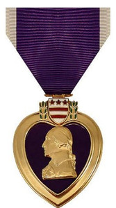 Full Size Medal: Purple Heart - 24k Gold Plated