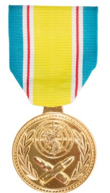 Full Size Medal: Republic of Korea War Service No Device 24k Gold Plated