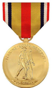 Full Size Medal: Selected Marine Corps Reserve - 24k Gold Plated