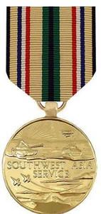 Full Size Medal: Southwest Asia - 24k Gold Plated