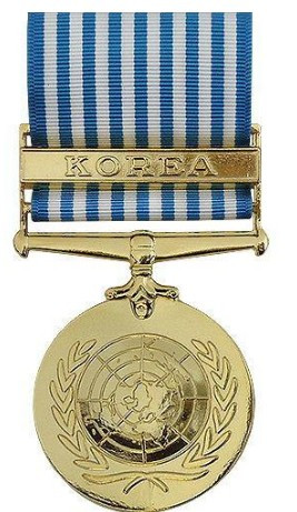 Full Size Medal: United Nations Service - 24k Gold Plated