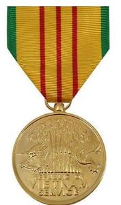 Full Size Medal: Vietnam Service - 24k Gold Plated