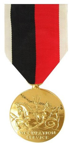 Full Size Medal: WWII Occupation Marine Corps - 24k Gold Plated