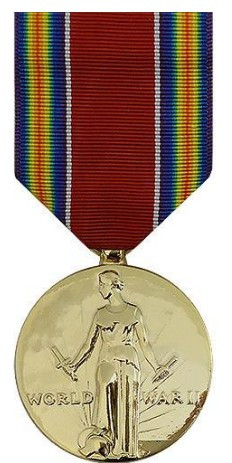 Full Size Medal: WWII Victory - 24k Gold Plated