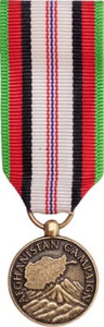 Miniature Medal: Afghanistan Campaign