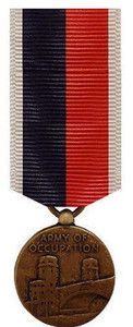 Miniature Medal: Army and Air Force WWII Occupation