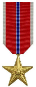 Bronze Star Miniature Medal- 24k Gold Plated