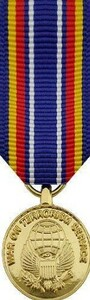 Global War On Terrorism Service Miniature Medal- 24k Gold Plated