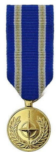 NATO Article 5 Active Endeavour Medal Miniature Medal- 24k Gold Plated