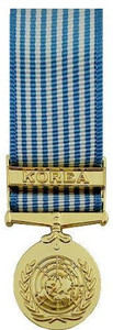 United Nations Service Miniature Medal- 24k Gold Plated