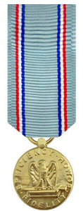 Air Force Good Conduct Miniature Medal- 24k Gold Plated