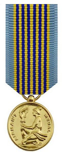 Airman's Medal Miniature Medal- 24k Gold Plated