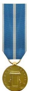 Korean Service Miniature Medal - 24k Gold Plated