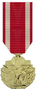 Meritorious Service Miniature Medal- 24k Gold Plated