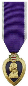 Purple Heart Miniature Medal- 24k Gold Plated