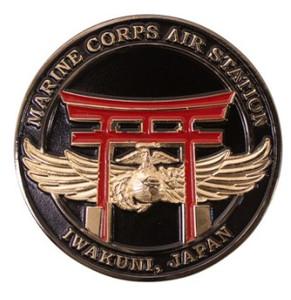 "Marine Corps Magnet 2"" Coin: Marine Corps Air Station Iwakuni Japan"