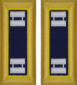 Army Captain Shoulder Board- Chemical- Female