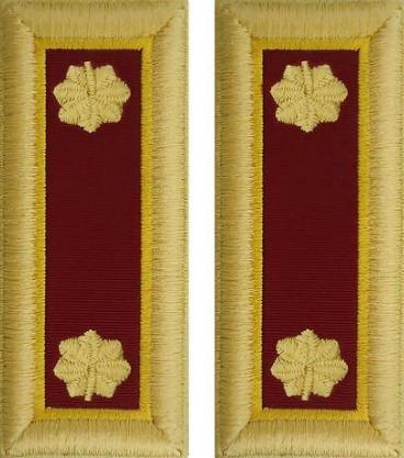 Army Major Shoulder Board- Transportation – female