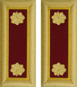 Army Major Shoulder Board- Transportation – female
