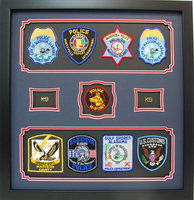 Police Career Shadow Box Display