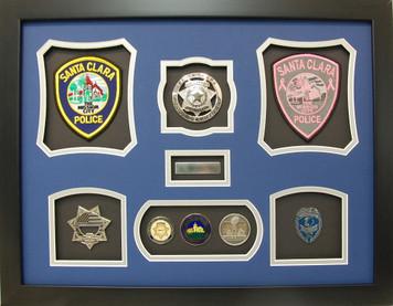 Santa Clara Police Retirement Display