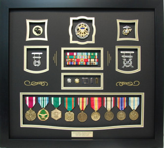 US Marine Corps Lt Colonel Shadow Box Frame