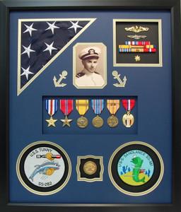 US Navy Lieutenant Commander Shadow Box Display
