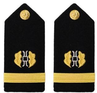 Navy Ensign Hard Shoulder Board- Judge Advocate – female